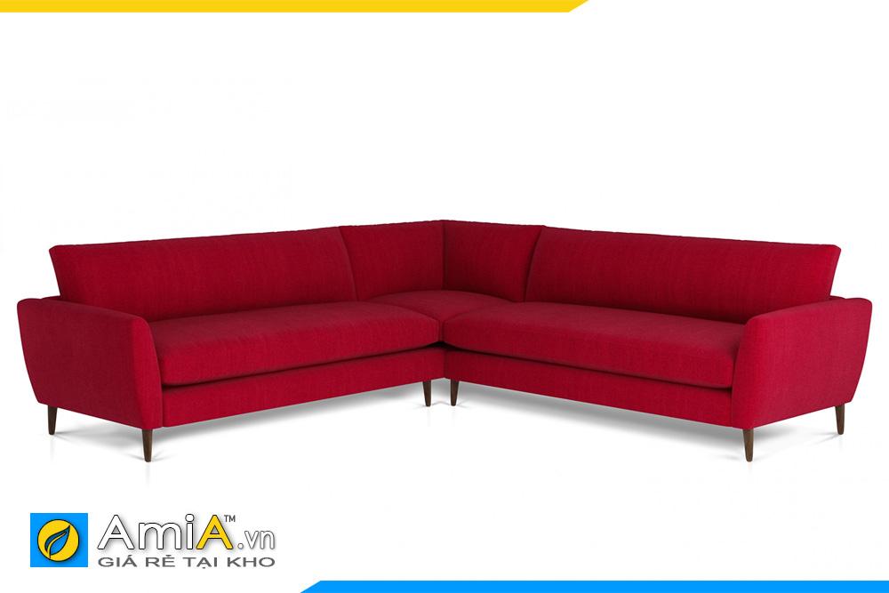 ghế sopha góc chữ V màu đỏ