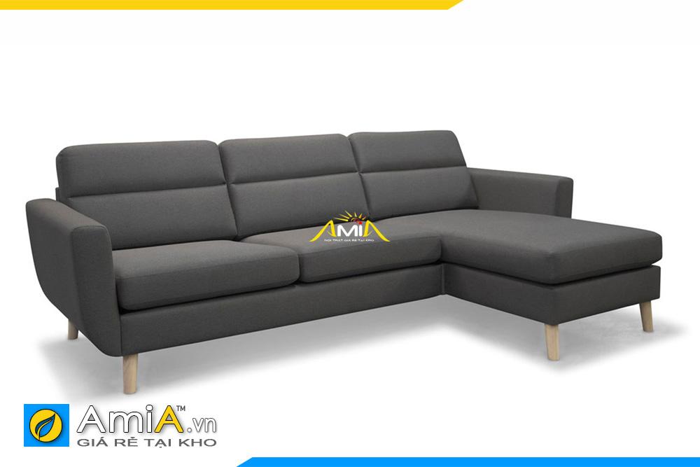 ghế sopha nỉ màu ghi AmiA 20219