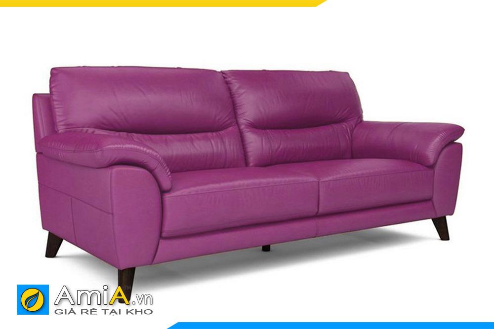 ghế văng da màu tím đậm