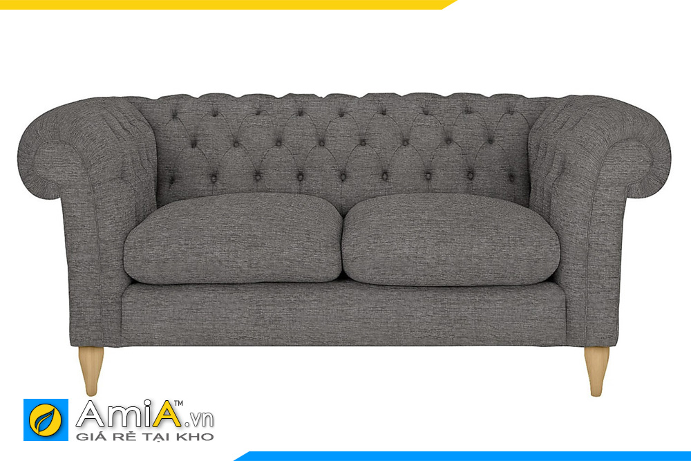 Ghế sofa văng nỉ màu ghi đậm