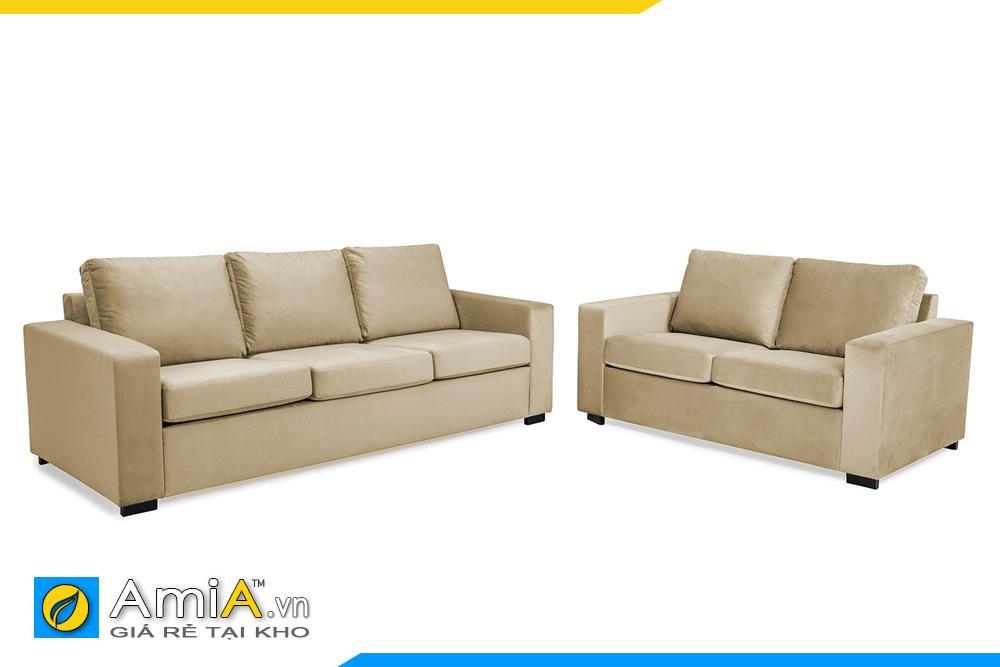 mẫu sofa phòng khách 2 ghế văng