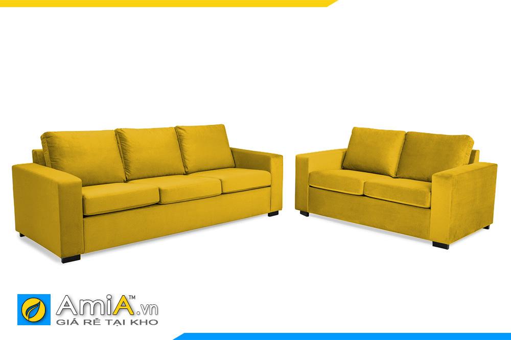 Mẫu sofa với gam màu vàng