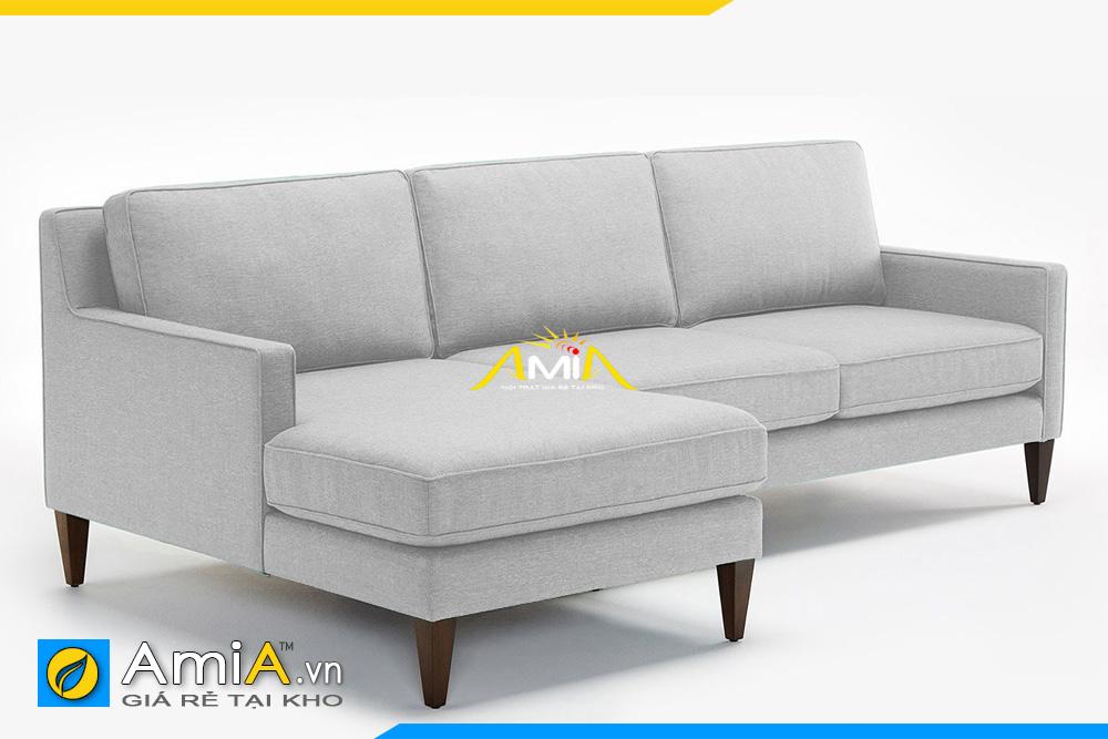 ghế sofa góc nỉ màu ghi sáng