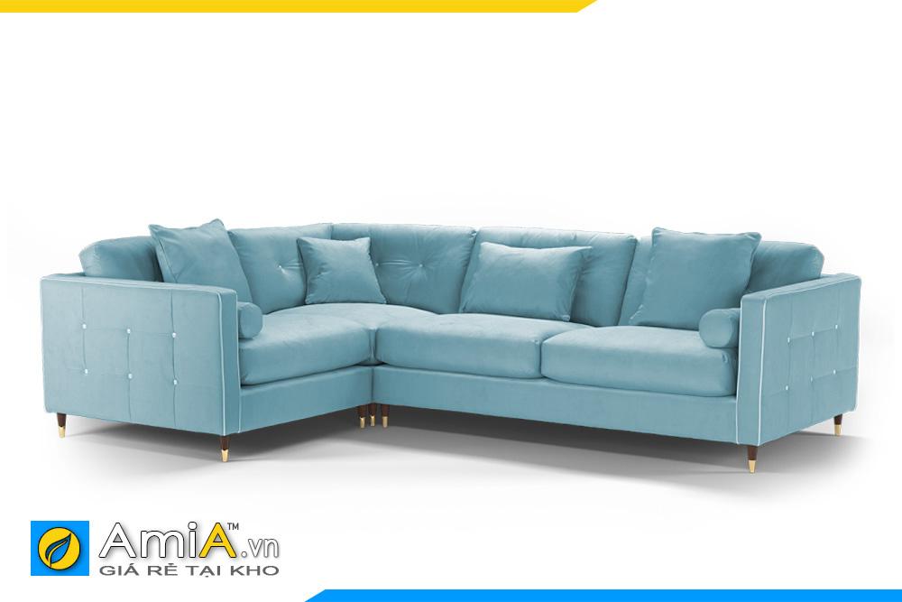 Sofa phòng khách màu xanh