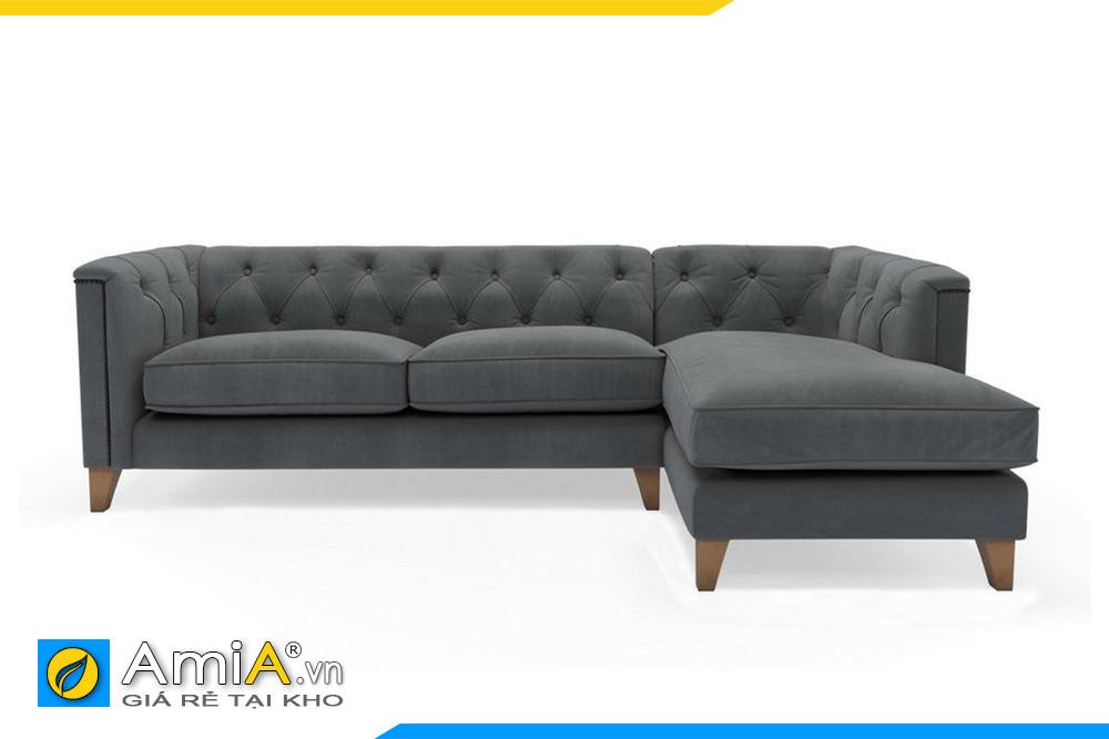 hình ảnh sofa màu ghi tân cổ điển