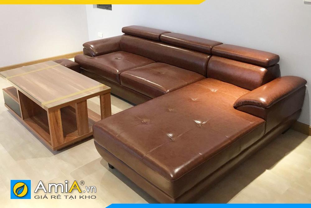 hình ảnh sofa phòng khách màu da bò