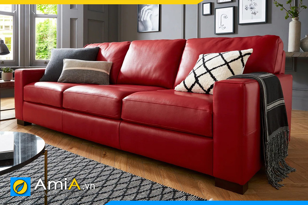 ghế salon phòng khách màu đỏ