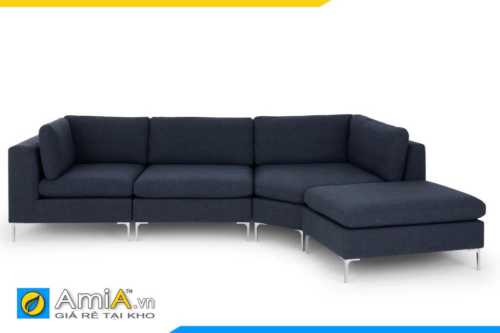 ghế sofa bọc vải nỉ kiểu góc L