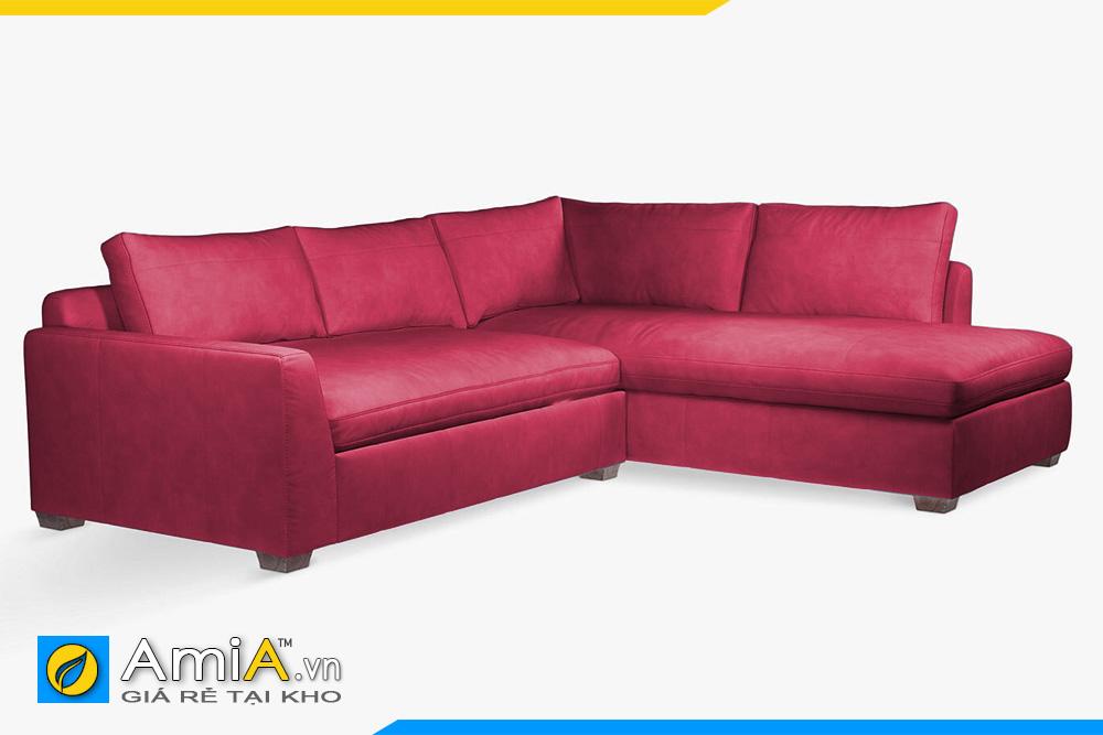 ghế sofa da đẹp màu đỏ