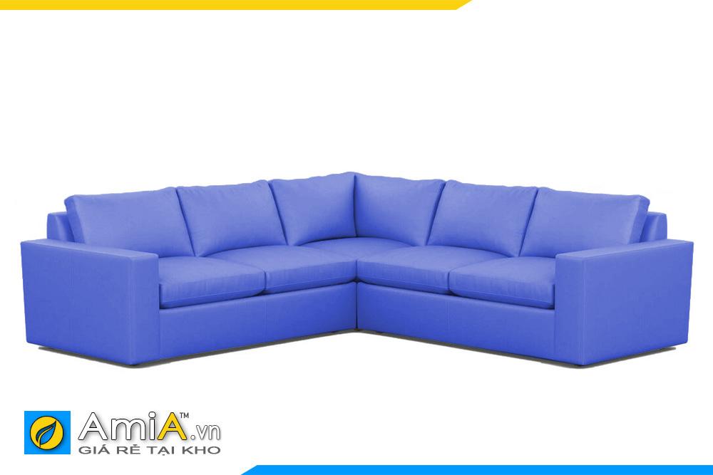 sofa màu xanh đẹp kiểu góc
