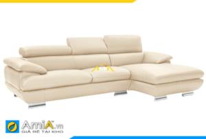 ghế sofa da màu vàng kem đẹp