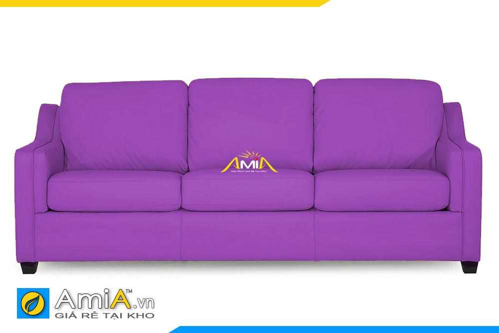 sofa da màu tím đẹp AmiA 20225