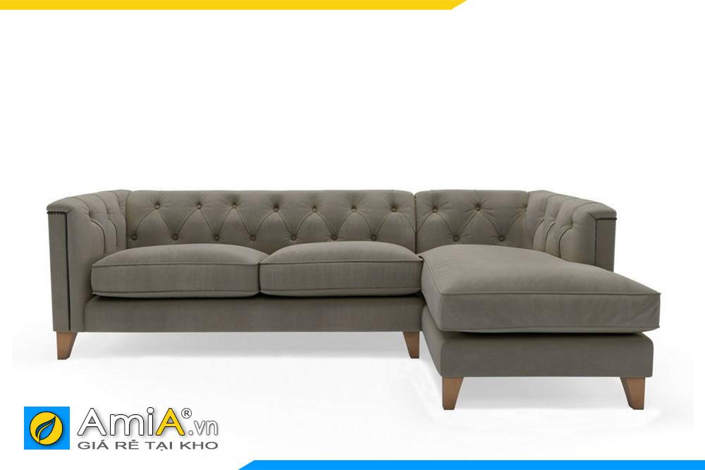 sofa góc L màu nâu nhạt