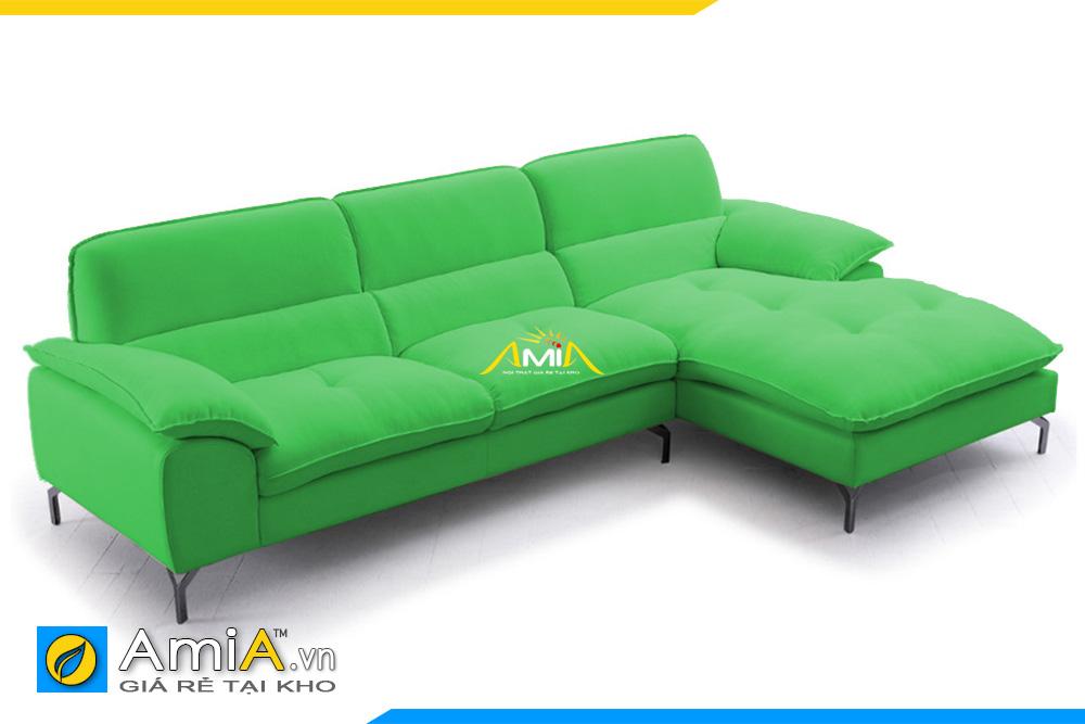 mẫu ghế sofa nỉ đẹp màu xanh lá cây