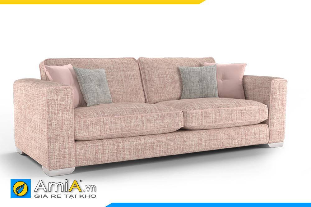 sofa nỉ đẹp màu phớt hồng