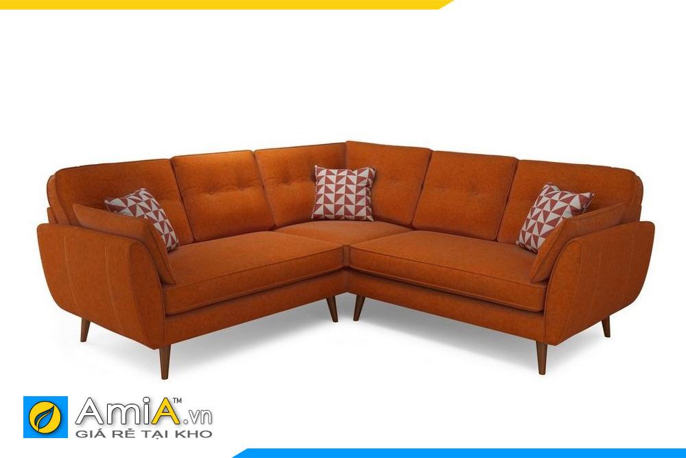 mẫu ghế sofa nỉ màu cam đẹp nhất