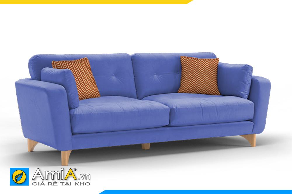 Mẫu sofa đẹp màu xanh dương
