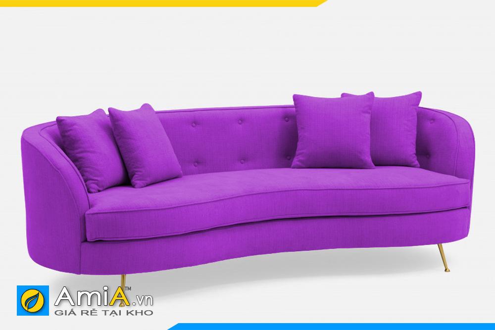 sofa màu tím uốn cong tròn