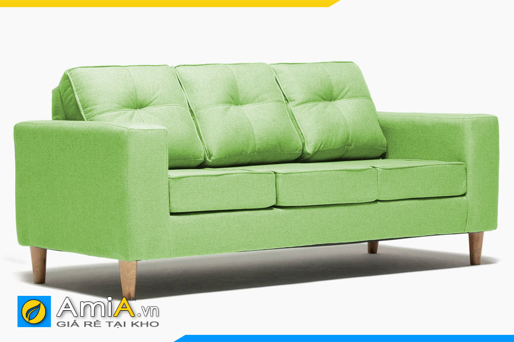 sofa nỉ màu xanh nõn chuối