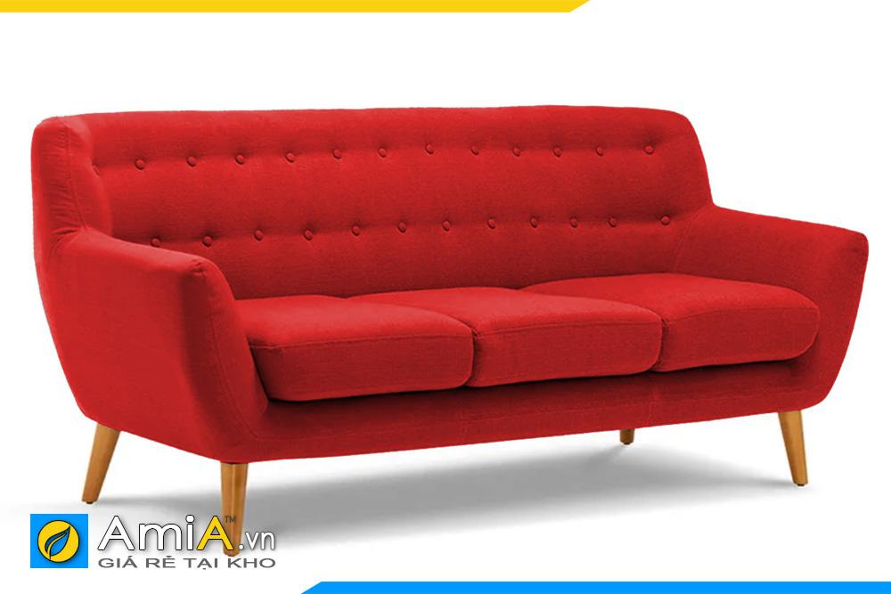 ghế sofa nỉ màu đỏ AmiA 20153
