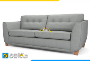 Ghế sofa văng nỉ màu ghi