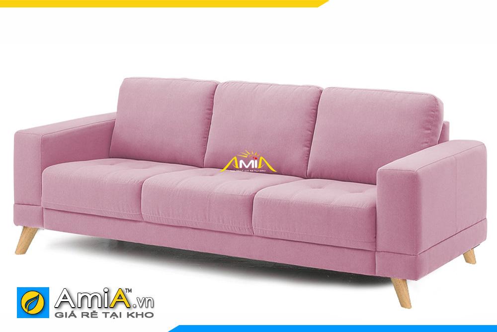 ghế sofa văng đẹp màu hồng