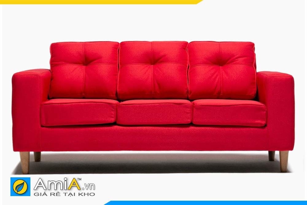 ghế sô pha nỉ màu đỏ tươi