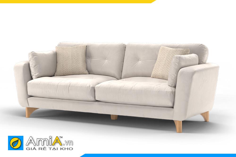 ghế sofa văng nhỏ màu ghi trắng