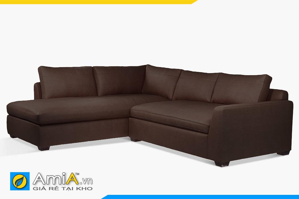ghế sofa da màu nâu sẫm