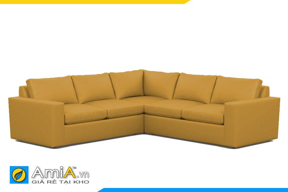 ghế sofa da màu vàng AmiA 20128