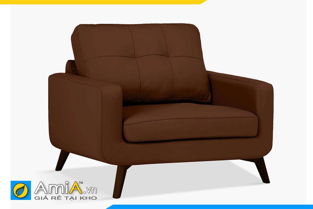 Ghế sofa đơn 1 chỗ màu nâu đậm