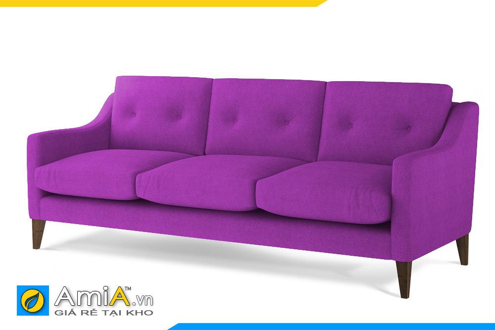 sofa phòng khách nhỏ màu tím