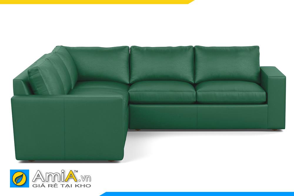 sofa da màu xanh lục đẹp