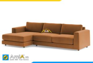ghế sofa nỉ đẹp màu nâu vàng