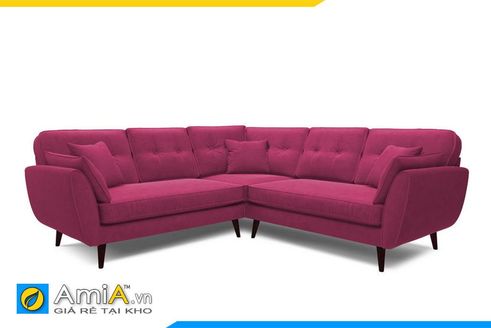 Sofa màu đỏ kiểu góc V