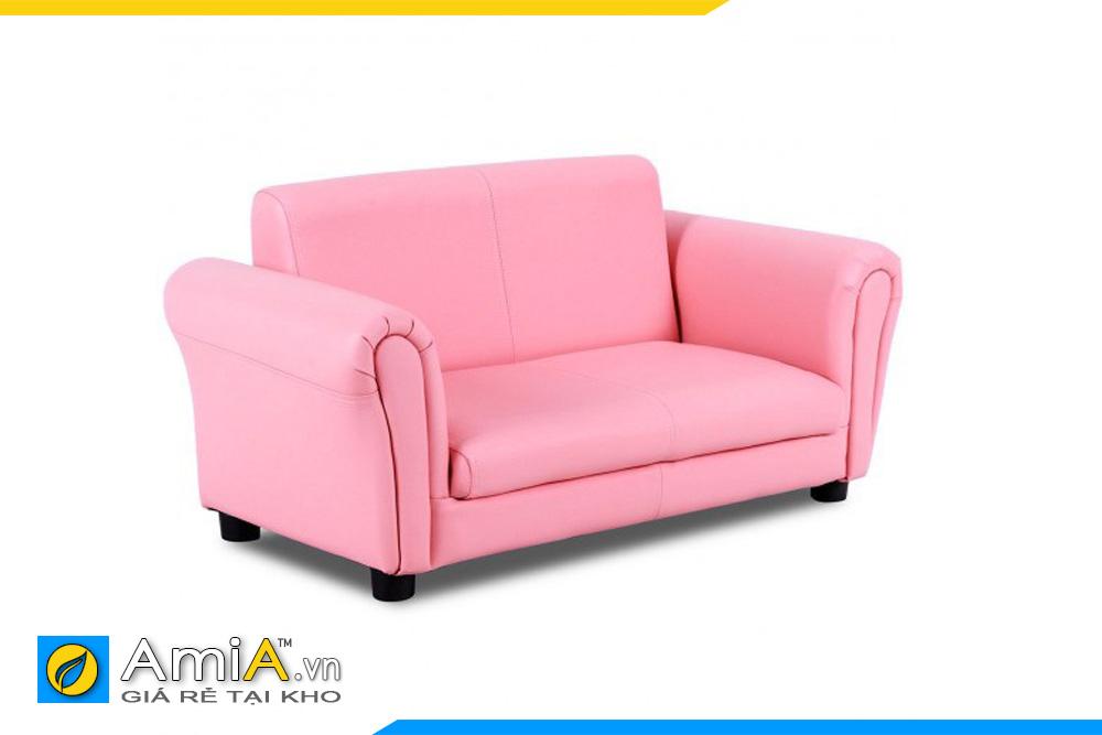 sofa bọc da màu hồng