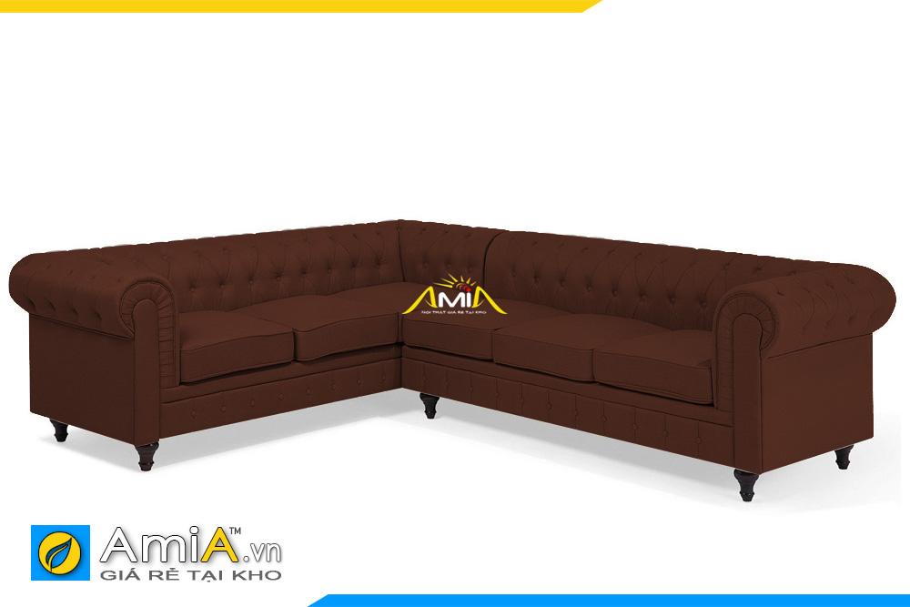 ghế sofa tân cổ điển màu nâu đẹp