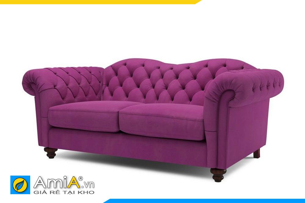 Sofa màu tím kiểu tân cổ điển