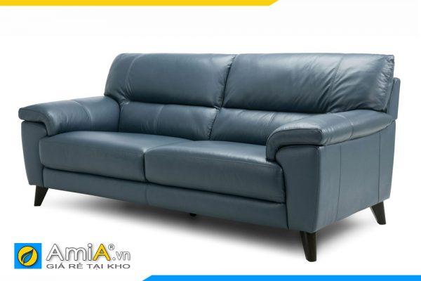 Ghế sofa văng da màu xanh ngọc