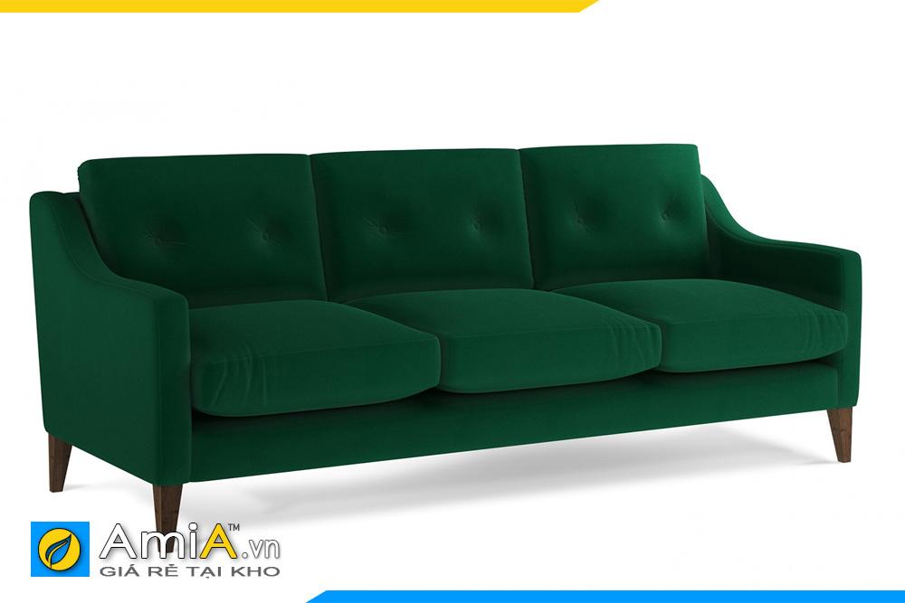 sofa văng nỉ màu xanh lục
