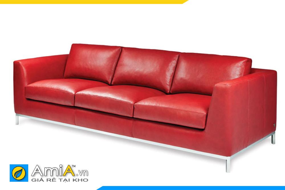 sofa da đẹp dạng văng 3 chỗ