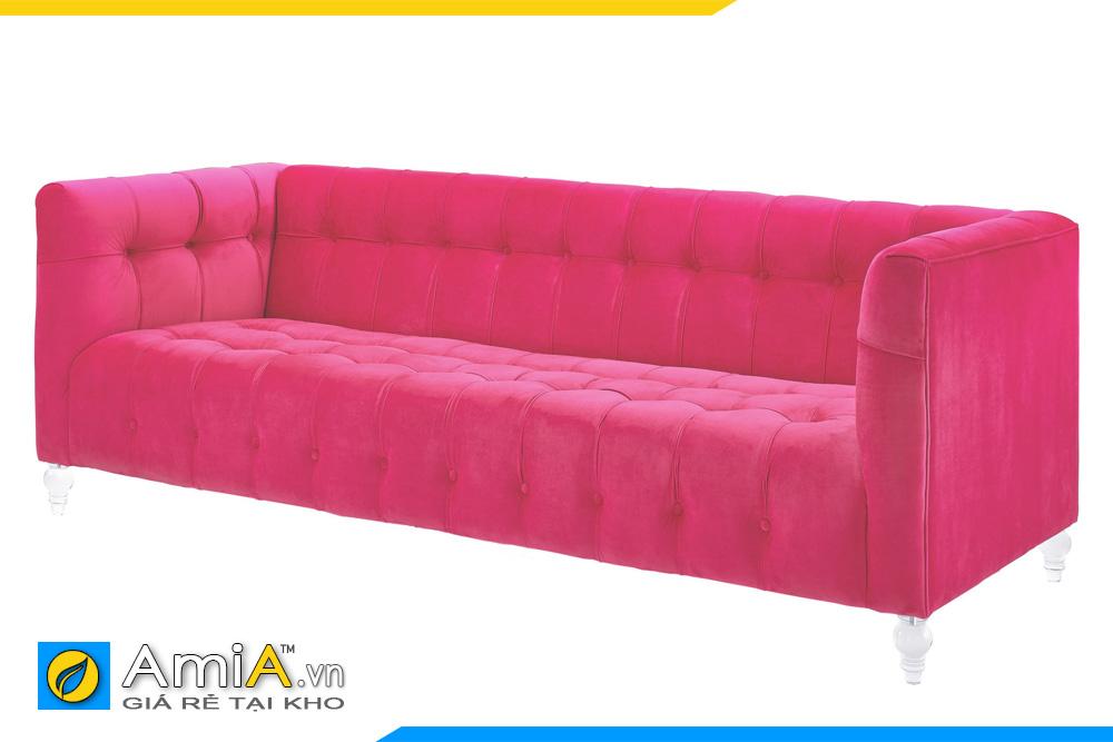 Ghế sopha nỉ màu hồng đỏ