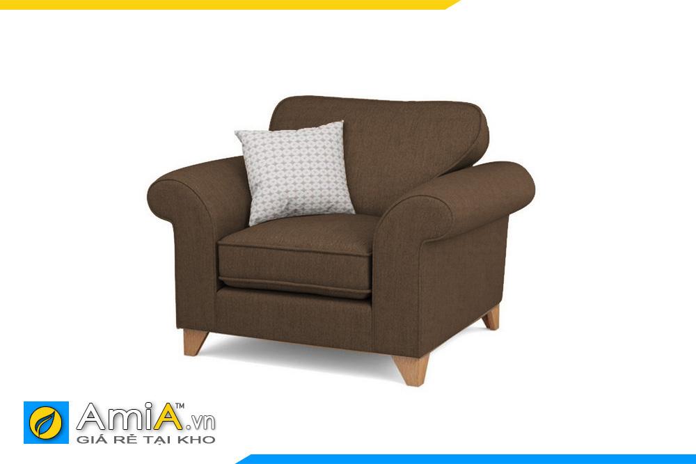 Mẫu sofa nỉ đẹp 1 chỗ ngồi