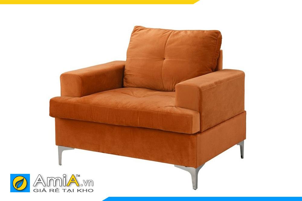 ghế sofa mini 1 chỗ ngồi màu cam