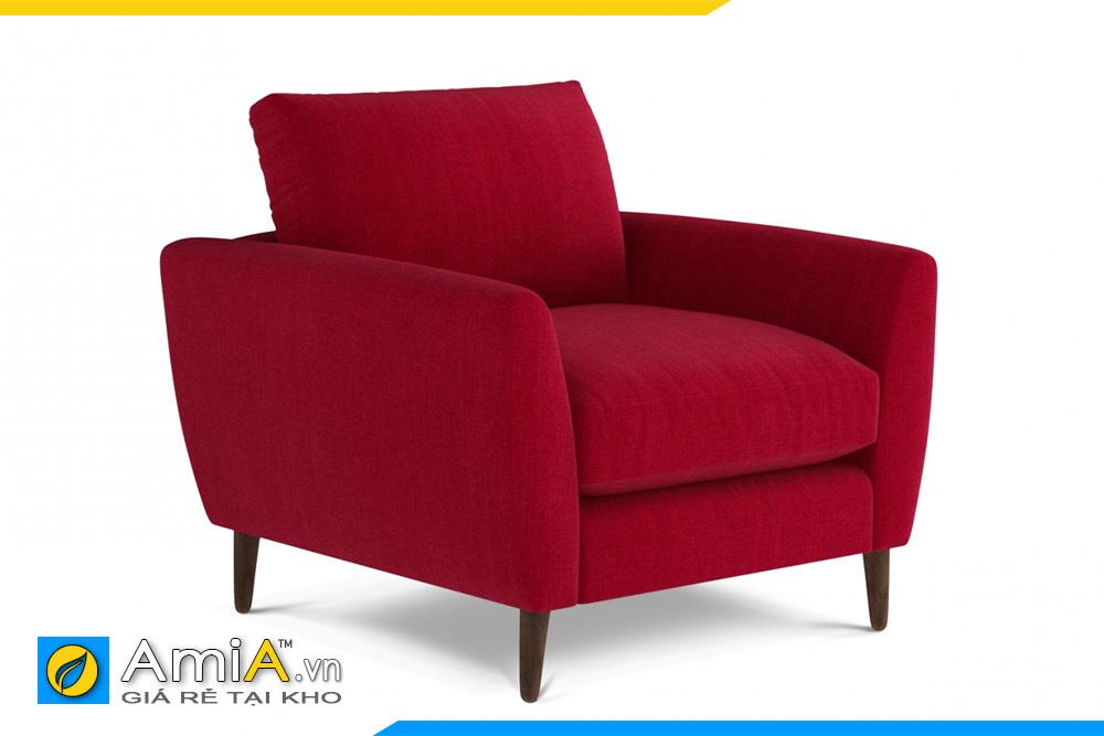 ghế sofa nỉ đỏ 1 chỗ ngồi
