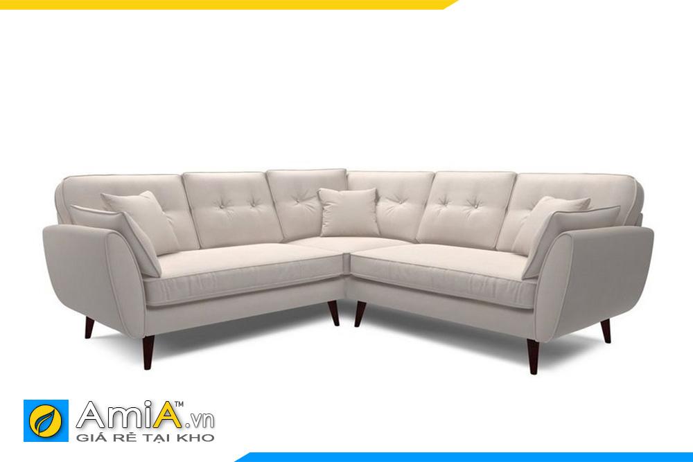 Sofa góc chữ V màu trắng