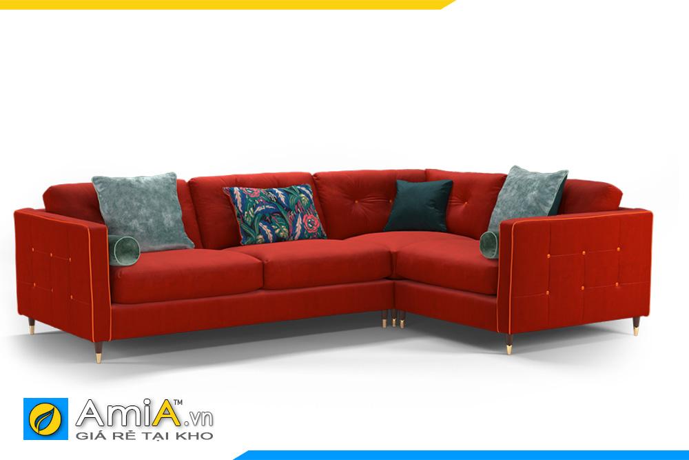 sofa đẹp bọc nỉ vải màu đỏ