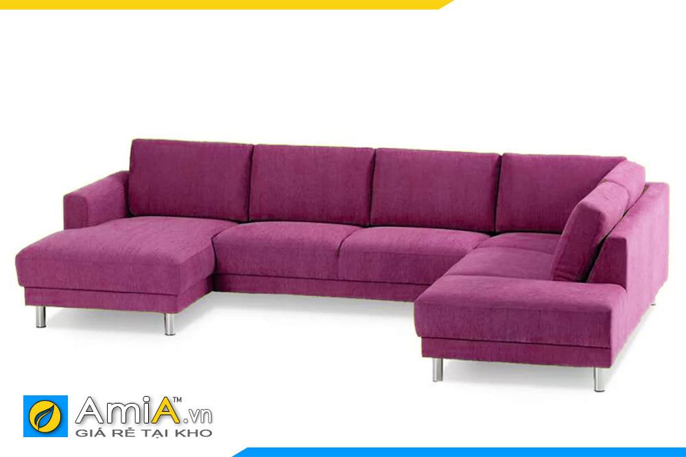 ghế sofa phòng khách rộng màu tím