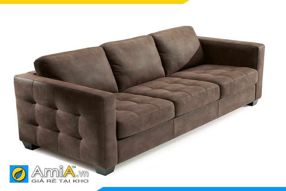 sofa da đẹp màu nâu