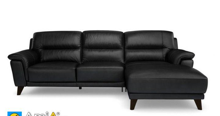 Sofa kiểu góc L màu đen